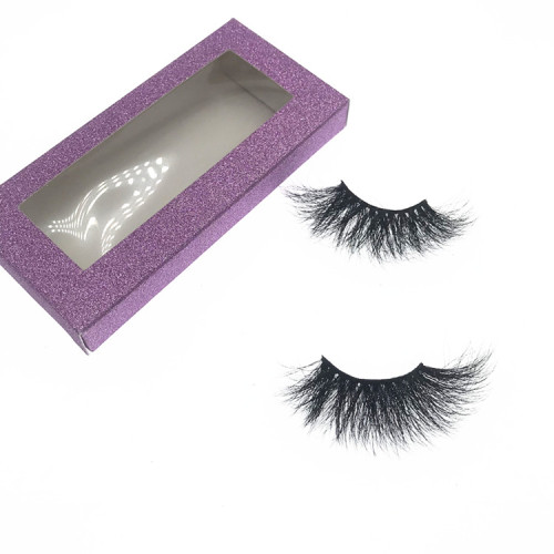 Manufacturer Vendors Supplies 25MM mink eyelashes with custom box your own brand