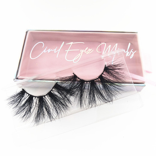 Custom Make Own Brand Real Faux Mink False Private Label Vendor Packaging Box