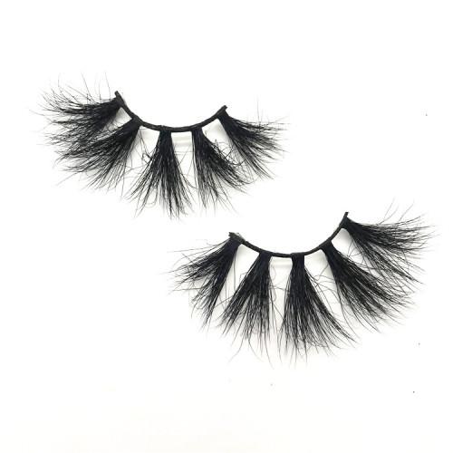 New style Cheap mink eyelashes 25mm long mink eye lashes 25mm mink fur lashes