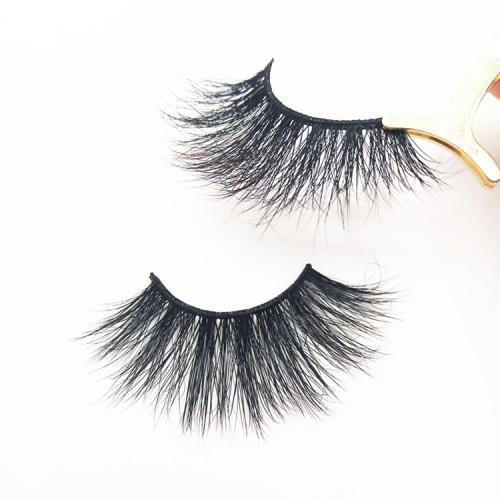 Hot sale mink eyelashes vendor long 25 MM false eyelash with private label