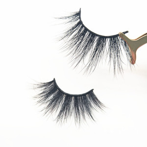 Factory Price Natural Black Cruelty Free Mink Lashes Mink Eyelashes fluffy 25mm mink eyelashes