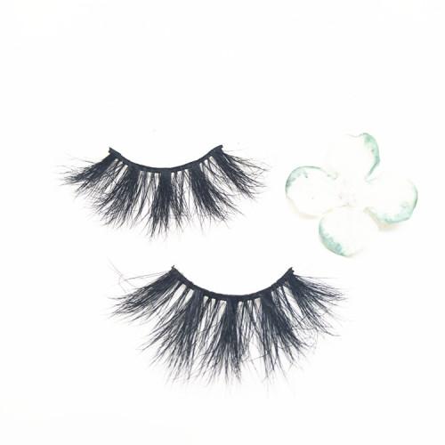Hot selling 25mm false lashes with eyelashes private label, accept eyelashes samples