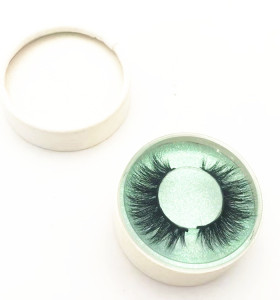 Natural eyelashes wispy real mink fur eyelashes with custom packaging