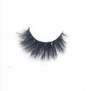 Natural eyelashes wispy real mink fur eyelashes with custom packaging