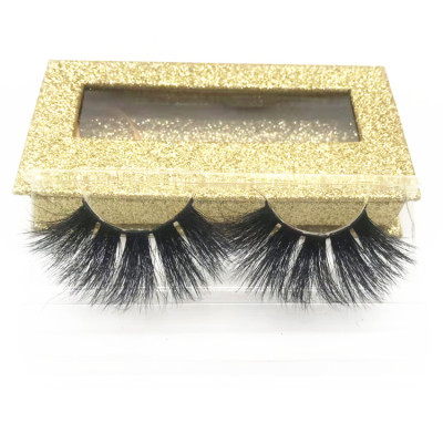 Best Selling eyelashes mink custom eyelash packaging Luxury beautiful  100% Fur mink eyelash