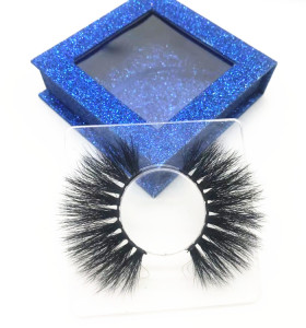Premium Mink Fur Eyelashes Wholesale Eyelash With Custom Box 100%  Mink Lashes Strip Eye Lashes