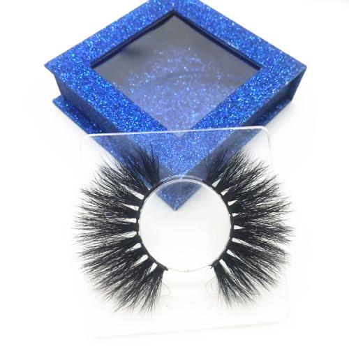 Premium Mink Fur Eyelashes Wholesale Eyelash With Custom Box 100%  Mink Lashes Strip Eye Lashes