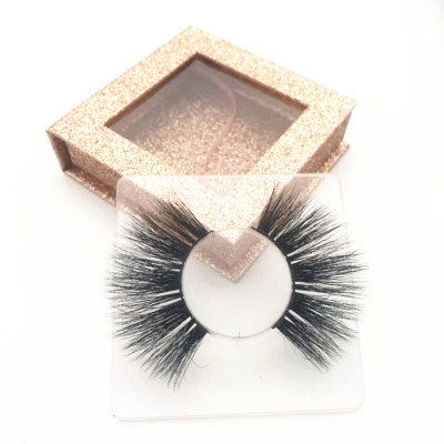 China Supplier 25mm eyelashes, private label hand mink eyelash, Wholesale real mink eyelashes