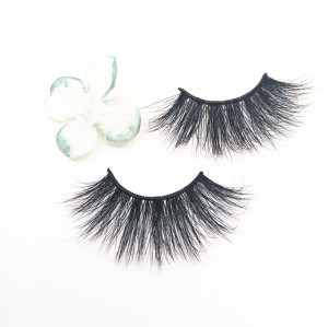 Hot sale mink eyelashes vendor long 25 MM false eyelash with private label