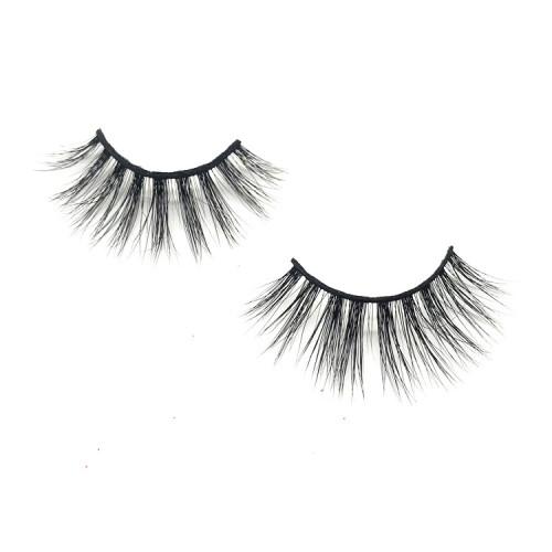 Wholesale real mink eyelashes korean natural eyelashes, 3d mink eyelash private label vendors