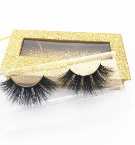 Accept samples natural black 25mm lashes  fake eyelashes with high quality