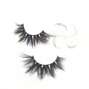 Manufacturer false eyelashes natural length real mink 3D eyelashes strip