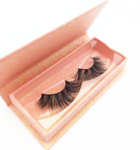 Natural 3D Mink eyelash customized label false mink eye lashes handmade  high quality