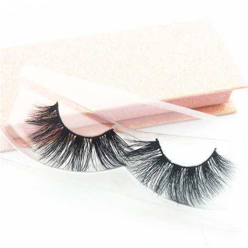Natural 3D Mink eyelash customized label false mink eye lashes handmade  high quality