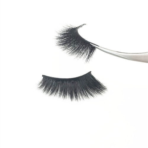 3D strip faux mink lashes wispy mink eyelashes package box private label custom
