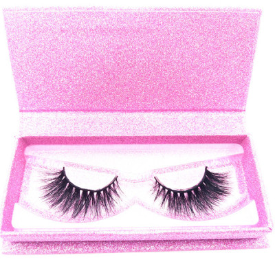 100% mink fur eyelash with false eyelashes box vendor accepted custom eyelash packaging