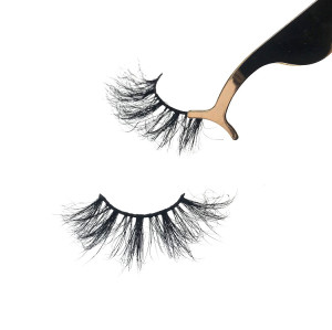 Mink eyelash vendor from Qingdao wholesale 25mm private label mink eyelashes cosmetics vendors