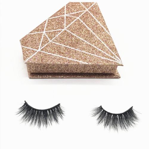 Black Cotton Band 3D Mink Fur Long Thick Mink Strip Private Label Natural Makeup Mink Eyelashes