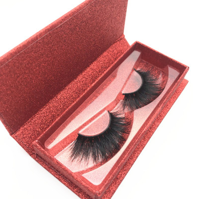 Hot Selling 3D Mink Lashes Handmade Natural Long Thick private label eyelash packaging