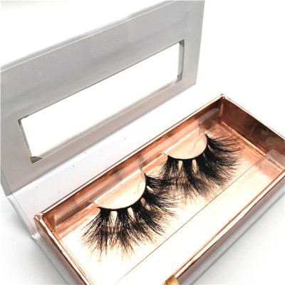 100% mink fur wholesale  full strip extra long mink lashes 25mm eyelashes with custom box