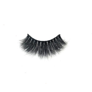 Private label 3d mink eyelashes  strip eyelash for customize box  looking natural