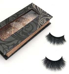 China factory Custom Eyelash Packaging Box Makeup 3D Mink False Eyelashes