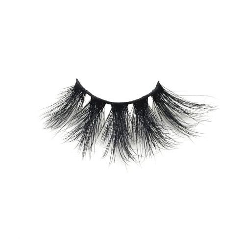 Korea Private Label Mink Fur Strip 25mm eyelashes 5D Mink Lashes Vendors