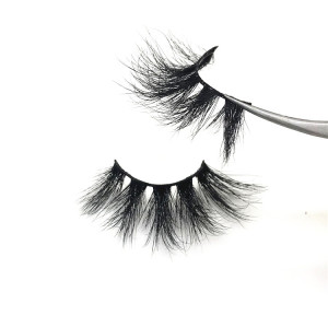 Korea Private Label Mink Fur Strip 25mm eyelashes 5D Mink Lashes Vendors
