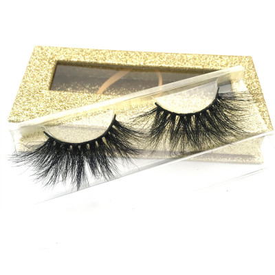 High Quality 25mm Own Brand Private Label Lashes 100% Real Mink Lashes 3d Mink Eyelashes