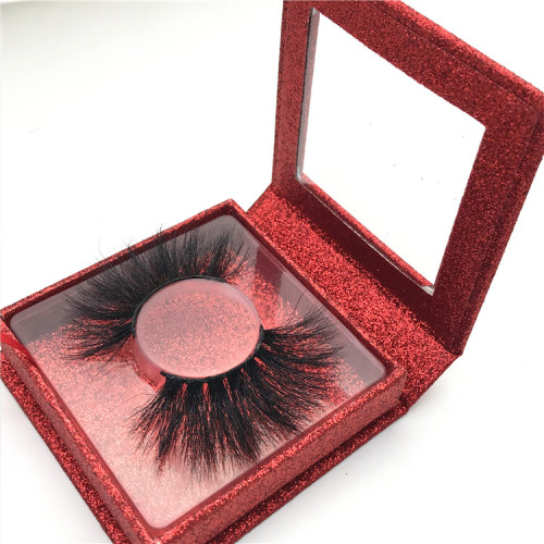 Professional high quality private label 25mm eyelashes real mink eyelashes
