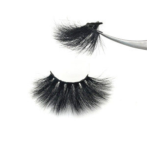 Professional high quality private label 25mm eyelashes real mink eyelashes