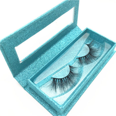 Custom eyelash packaging 100% real mink fur eyelash siberian 3d eyelashes mink with black cotton band
