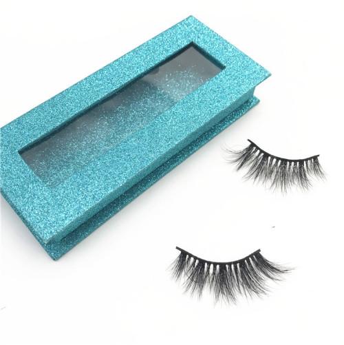 Custom eyelash packaging 100% real mink fur eyelash siberian 3d eyelashes mink with black cotton band