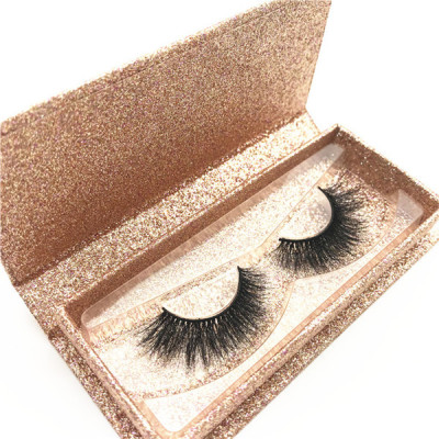 3d mink effect eyelash 3d real mink eyelashes with custom packaging
