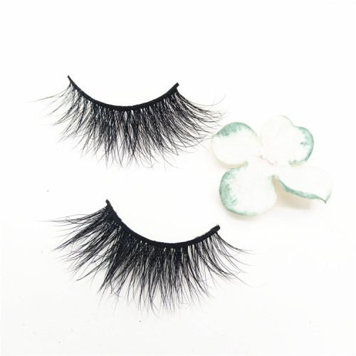 Beautiful Mink Eyelashes Korea Makeup Private Label 3D Mink Eyelash Vendors
