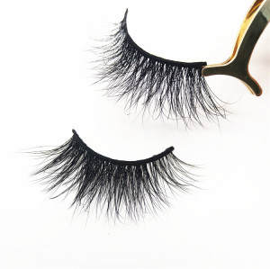 Beautiful Mink Eyelashes Korea Makeup Private Label 3D Mink Eyelash Vendors