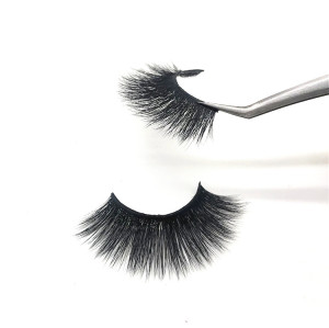 100% handmade real mink lashes Private Label Eyelashes 3D Real Mink Eyelash Black Cotton Band