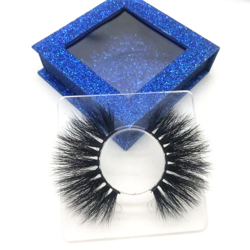 Luxury Fluffy 25mm Mink 5d Lashes mink 25 mm Custom Eyelash Packaging 25mm Eyelashes Vendor