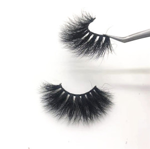 Luxury Fluffy 25mm Mink 5d Lashes mink 25 mm Custom Eyelash Packaging 25mm Eyelashes Vendor