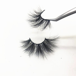 Cruelty-free Fluffy 25mm Super Long Thick Eyelashes 5D Mink,Fashionable Eyelashes Boxes