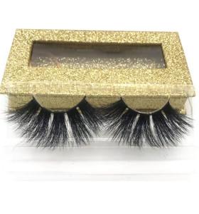 25mm Extra Long Mink 5d Lashes mink bulk 25 mm Custom Eyelash Packaging ,25mm Eyelashes Vendor