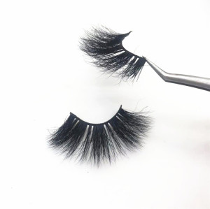 Siberian 25mm 3D Mink False Lashes 100% Real Mink Fur Eyelashes,Customized Eyelashes Packaging