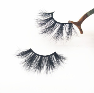 3D Soft 25mm Mink Eyelashes 100% Real Mink Eyelashes with Pink Eyelashes Packaging