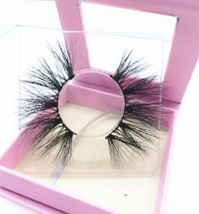 Popular 25mm 3d mink eyelashes and customized eyelash box bulk  ,Qingdao mink lashes vendor