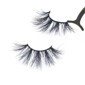 Popular 25mm 3d mink eyelashes and customized eyelash box bulk  ,Qingdao mink lashes vendor