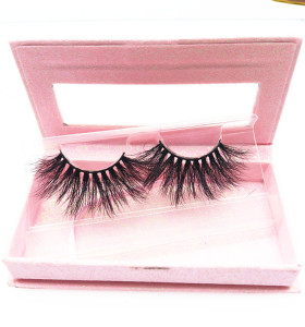 Luxury 25mm mink eyelashes 100% real siberian mink eyelashes bulk 3d 25mm mink eyelashes