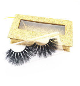 Mink Lashes Vendors Supplies 25mm handmade 3d mink eyelashes with custom box own brand eyelashes