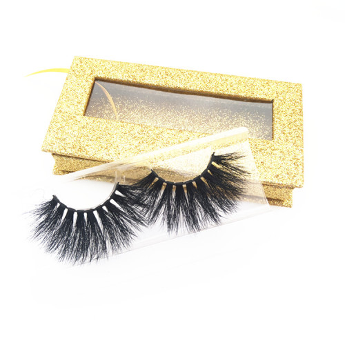 Mink Lashes Vendors Supplies 25mm handmade 3d mink eyelashes with custom box own brand eyelashes