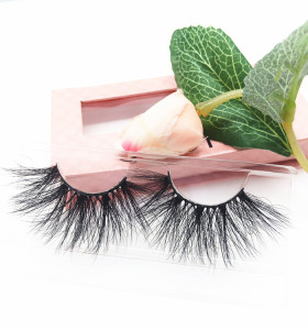25mm 3d 100% real mink eyelashes private label mink eyelash vendor Dramatic 25mm Mink Eyelash