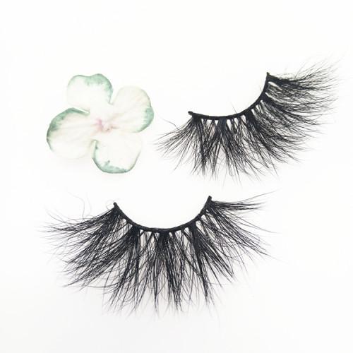 25mm 3d 100% real mink eyelashes private label mink eyelash vendor Dramatic 25mm Mink Eyelash